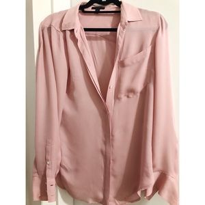 Size 6 J.Crew 100% silk button down blouse in pink